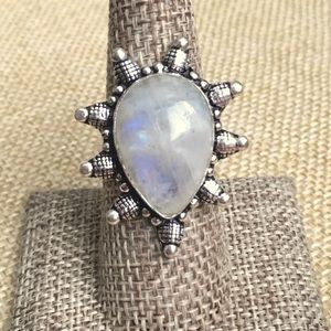 Moonstone Statement Ring Size 8 1/2